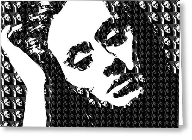 Adele 21 Album Cover Digital Art Greeting Card by Ryan Dean