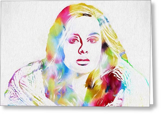 Adele Greeting Card by Dan Sproul