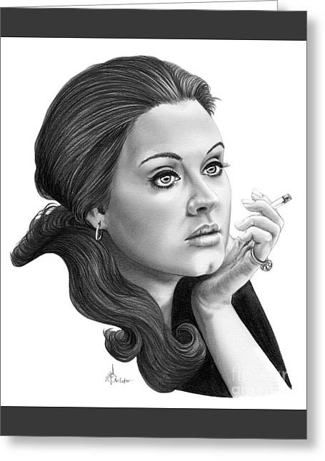 Adele Greeting Card by Murphy Elliott