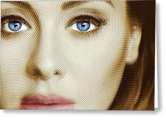 Adele Painting Circle Pattern 1 Greeting Card by Tony Rubino