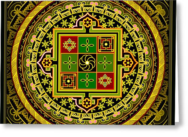 Tibetan Buddhism Greeting Cards - Adept Greeting Card by Clare Goodwin