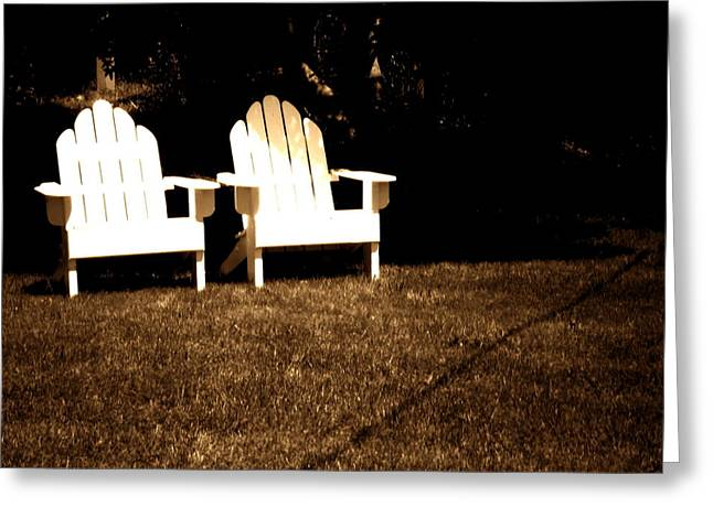 Chairs Greeting Cards - Adirondack chairs Greeting Card by Utopia Concepts
