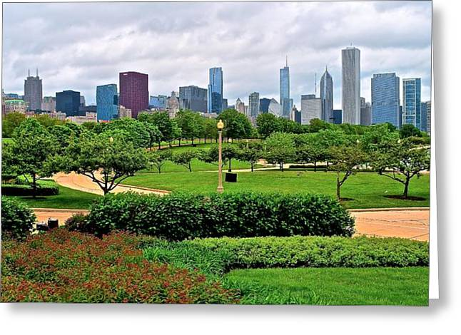 The Bean Greeting Cards - Adler View of Chicago Greeting Card by Frozen in Time Fine Art Photography