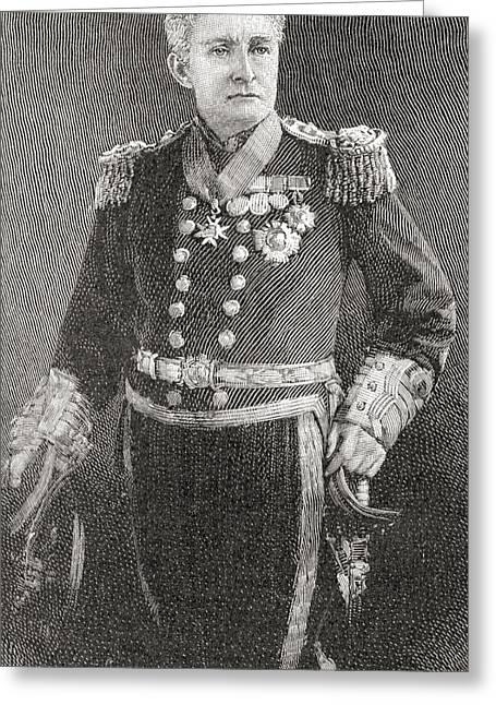 Sir Charles Greeting Cards - Admiral Sir John Charles Dalrymple-hay Greeting Card by Ken Welsh