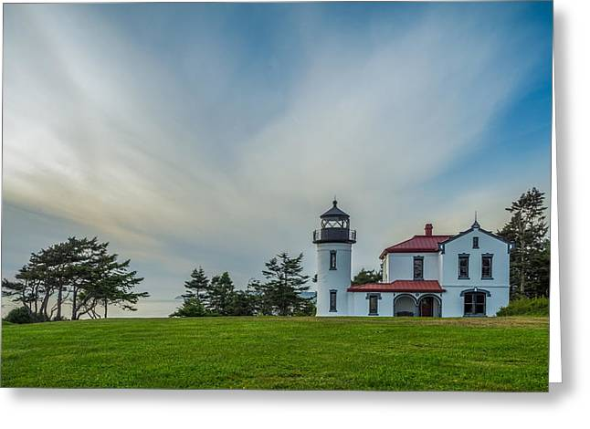 Fort Casey Greeting Cards - Admiralty Head Light House Greeting Card by Ken Stanback