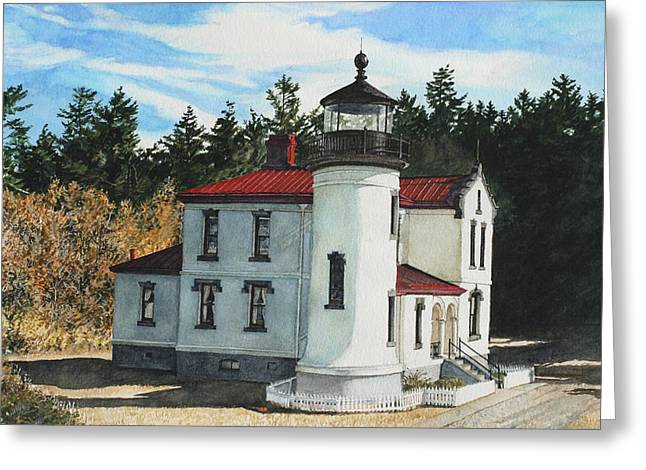 Fort Casey Greeting Cards - Admiralty Head Greeting Card by Perry Woodfin