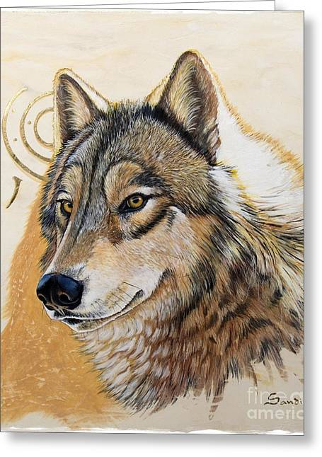 Acrylic Greeting Cards - Adobe Gold Greeting Card by Sandi Baker