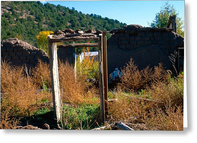 Adobe Greeting Cards - Adobe Ruins Las Trampas NM Greeting Card by Troy Montemayor