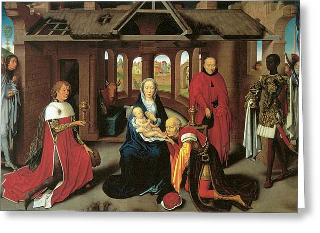 Adoration Of The Magi  Greeting Card by Hans Memling