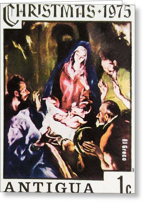 Vintage Painter Greeting Cards - Adoration the Shepherds by El Greco Greeting Card by Lanjee Chee