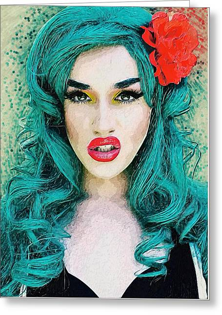 Adore Delano Greeting Card by Taylan Soyturk