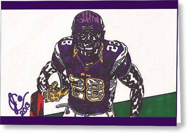 Adrian Peterson Greeting Cards - Adrian Peterson 1 Greeting Card by Jeremiah Colley
