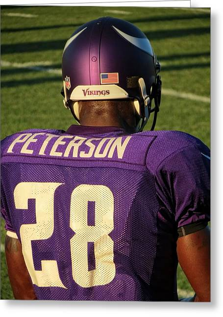 Adrian Peterson Greeting Cards - Adrian Peterson Greeting Card by Kyle West