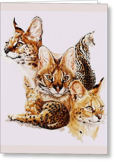 Small Cats Greeting Cards - Adroit Greeting Card by Barbara Keith