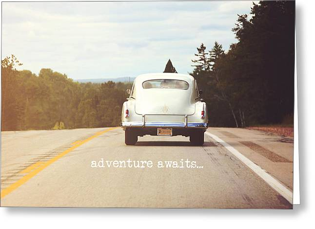 Adventure Awaits Greeting Card by Angie Turner