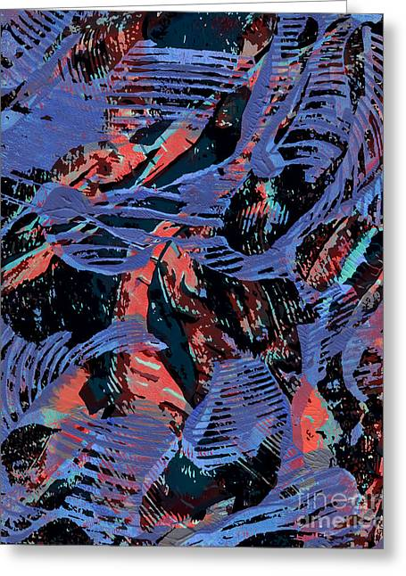 Swirls And Stripes Greeting Cards - Adventure Greeting Card by Laura L Leatherwood