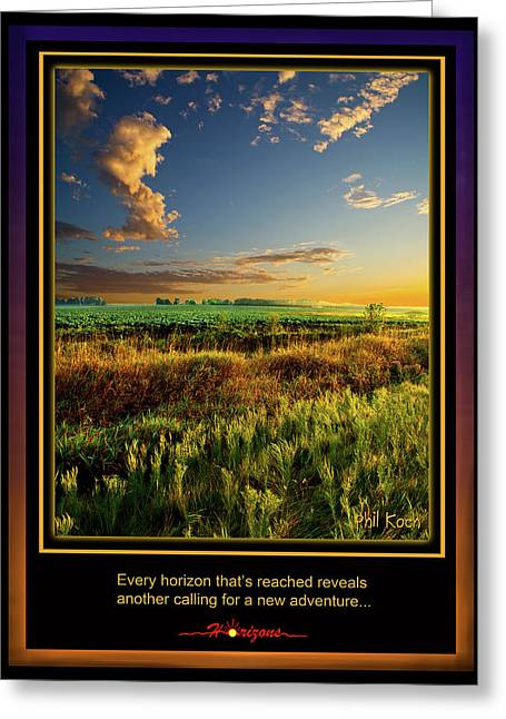 Inspirational Poster Greeting Cards - Adventure Greeting Card by Phil Koch