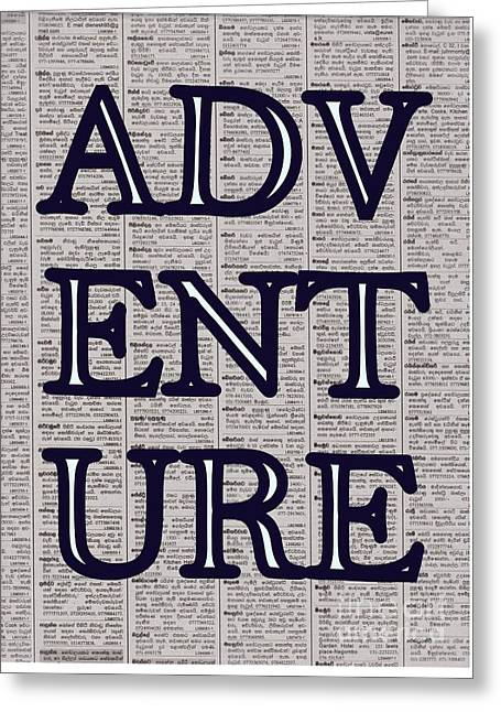 Adventure Greeting Card by Sweeping Girl