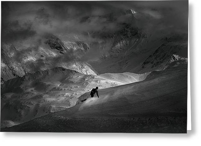 Adventure With Concerns Greeting Card by Peter Svoboda