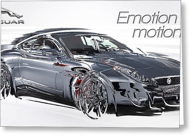 Souls Greeting Cards - Advert - Jaguar Emotion in Motion Greeting Card by The Jones Collection