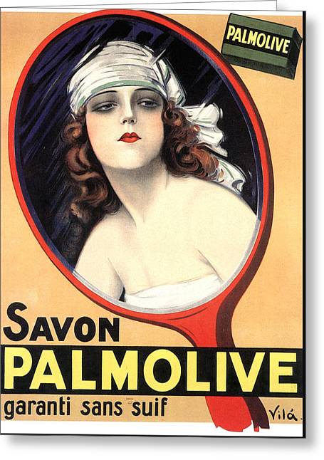 Advertisement For Palmolive Soap Greeting Card by Emilio Vila
