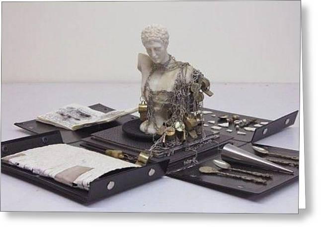 Brook Sculptures Greeting Cards - Aeon - Ricardo Brey Greeting Card by Margarita Woods