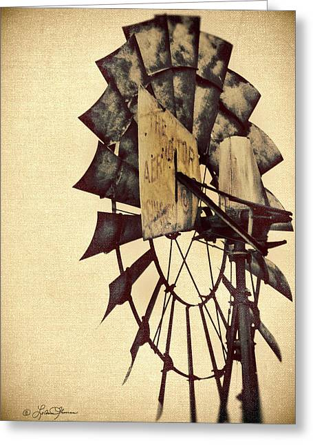 Windmills Greeting Cards - Aerator Greeting Card by LeAnne Thomas