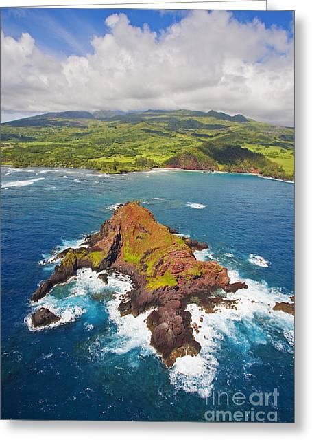 Sightsee Greeting Cards - Aerial of Alau Islet II Greeting Card by Ron Dahlquist - Printscapes