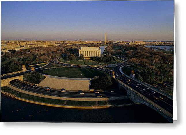 Aerial View Of Lincoln Memorial Greeting Card by Kenneth Garrett