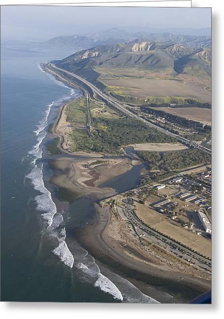 Aerial View Of Ventura Point, Ventura Greeting Card by Rich Reid