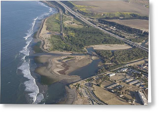 Aerial View Of Ventura Point, Ventura Greeting Card by Rich Reid