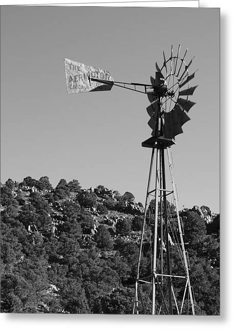 Aermotor Greeting Cards - Aermotor Windmill Greeting Card by Troy Montemayor
