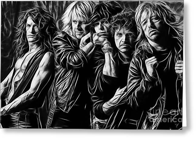 Tyler Greeting Cards - Aerosmith Collection Greeting Card by Marvin Blaine