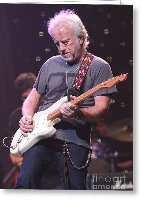 Aerosmith Guitarist Brad Whitford Greeting Card by Concert Photos