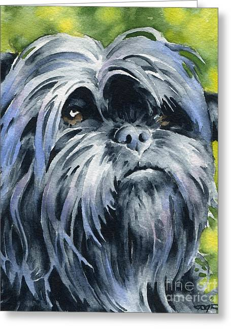 Toy Dog Greeting Cards - Affenpinscher Greeting Card by David Rogers