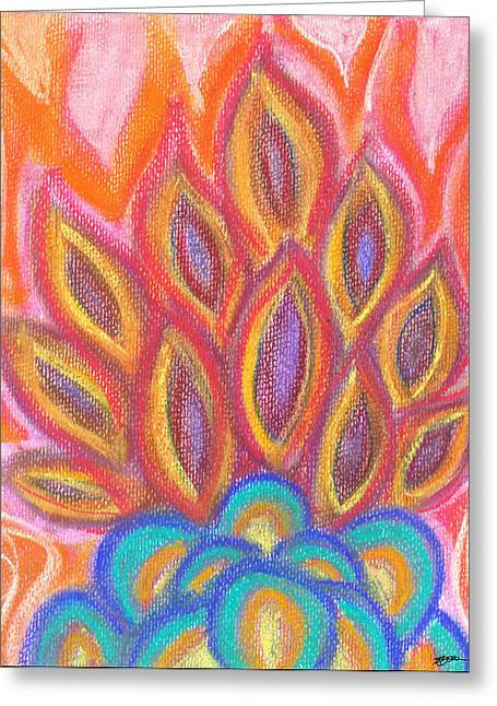 Sienna Greeting Cards - Afire Greeting Card by Michelle Foster