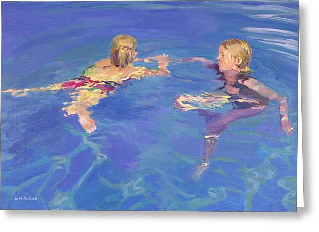 Pool Greeting Cards - Afloat Greeting Card by William Ireland