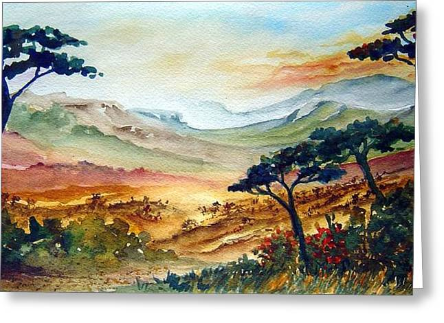 Africa Greeting Card by Joanne Smoley