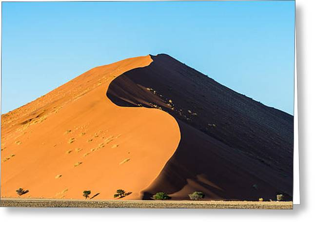 Africa Morning - Namibia Sand Dune Photograph Greeting Card by Duane Miller
