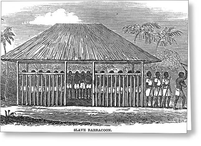 Slaves Greeting Cards - Africa: Slave Pen, 1849 Greeting Card by Granger