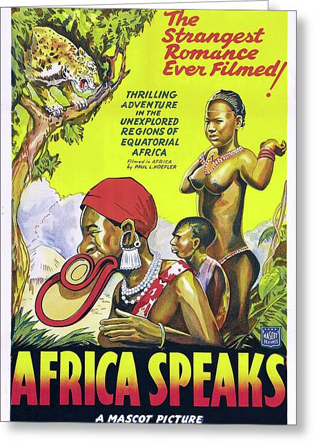 Africa Speaks 1930 Greeting Card by Mountain Dreams