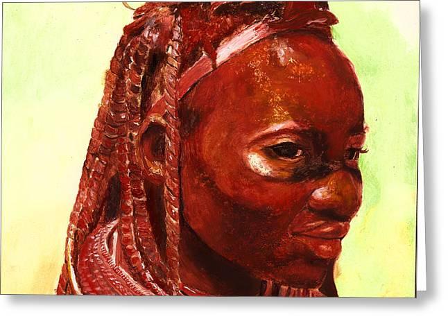 African Beauty Greeting Card by Enzie Shahmiri