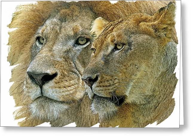 African King And Queen Greeting Card by Larry Linton