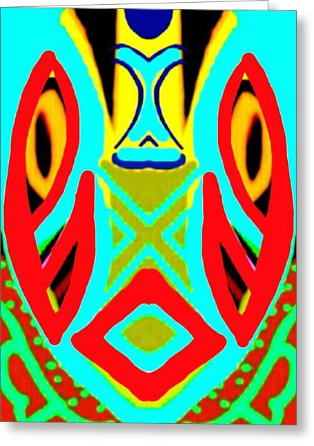 Featured Art Greeting Cards - African Mask 11 Greeting Card by Babatunde Kayode