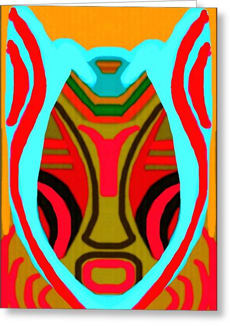 Featured Art Greeting Cards - African Mask 13  Greeting Card by Babatunde Kayode