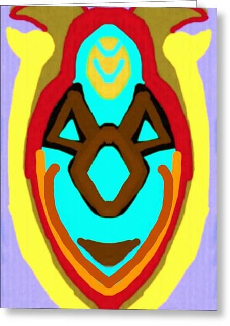 African Heritage Greeting Cards - African Mask 6 Greeting Card by Babatunde Kayode