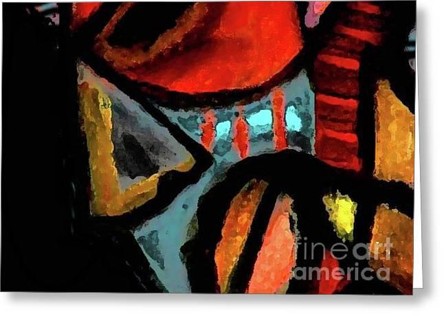 Robert Daniels Paintings Greeting Cards - African Mask Greeting Card by Robert Daniels
