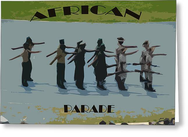 March Greeting Cards - African Parade Greeting Card by Benny Makhulu