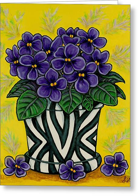 African Violets Greeting Cards - African Queen Greeting Card by Lisa  Lorenz