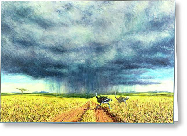 African Storm Greeting Card by Tilly Willis